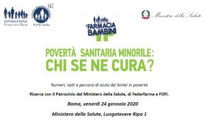 CONVEGNO POVERTA' SANITARIA A ROMA 24/1/20