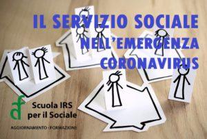 IL SERVIZIO SOCIALE NELL'EMERGENZA CORONAVIRUS registrazione dell'8 aprile on line